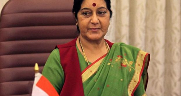 Sushma-swaraj najiriyan student