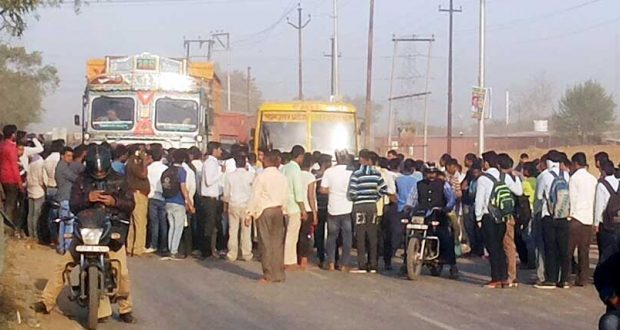 ghaziabad student accident nh 24 hiway jaam