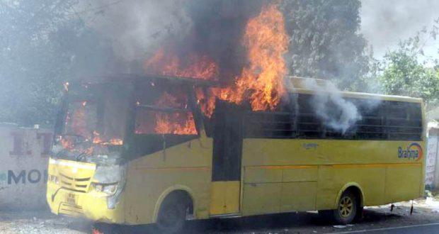 ghaziabad school bus fire