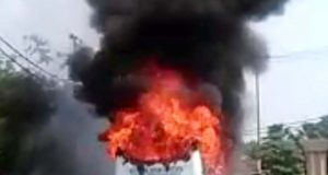 indrapuram school bus burn 1