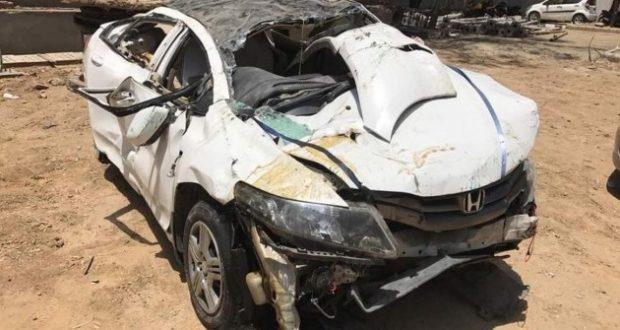 greater noida honda city car accident